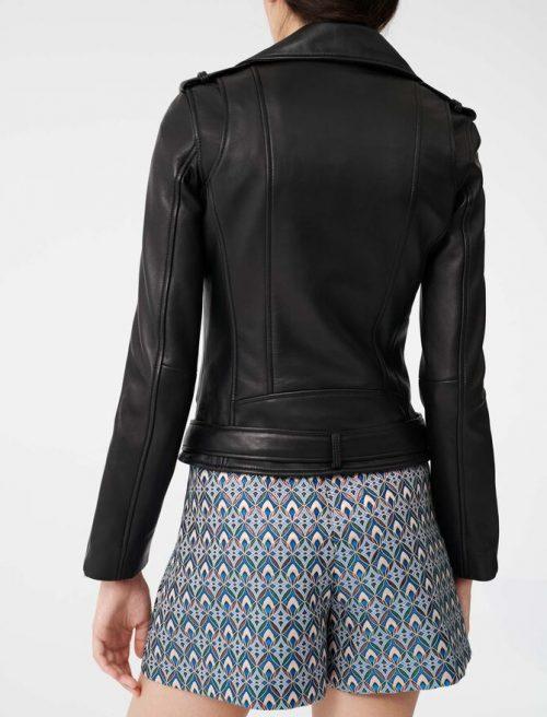Lambskin Leather Western Jacket With Belt Western Jacket Free Shipping