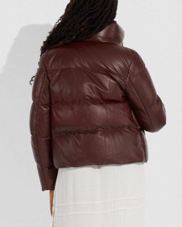 Lightweight Leather Puffer Jacket Puffer Jackets Free Shipping