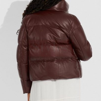 Lightweight Leather Puffer Jacket Puffer Jackets Free Shipping