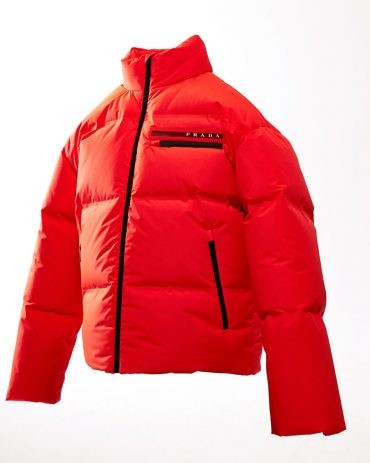 Shiny Red Winter Leather Puffer Jacket Puffer Jackets Free Shipping