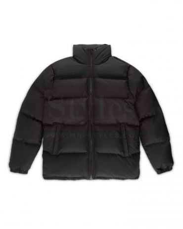 Winter Bundled Leather Puffer Jacket Puffer Jackets Free Shipping