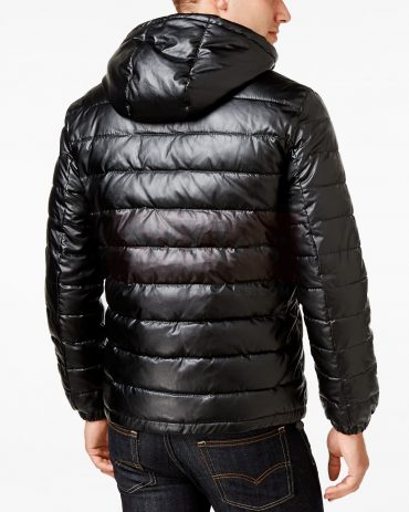 Mr.Styles Leather Puffer Coat Puffer Jackets Free Shipping