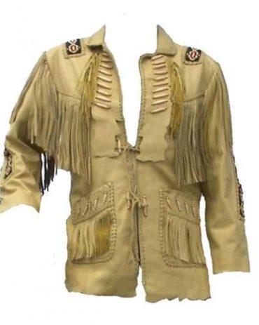 Western Wear Cowboy Coat Fringe Bead & Bones Work Western Jacket Free Shipping