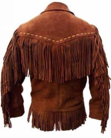 Men Western Suede Leather Cowboy Jacket Western Jacket Free Shipping