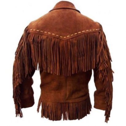 Men Western Suede Leather Cowboy Jacket Western Jacket Free Shipping
