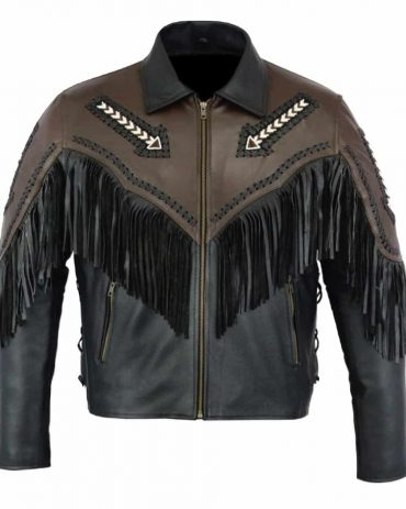 Women's Black Leather Western Jacket Western Jacket Free Shipping