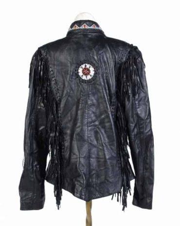 Women's Black Leather Western Jacket Western Jacket Free Shipping
