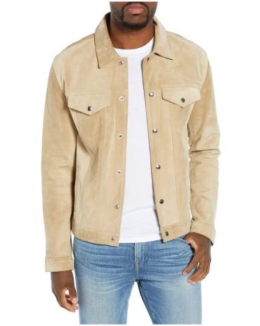 Slim Fit Leather Western Jacket For Men's Western Jacket Free Shipping