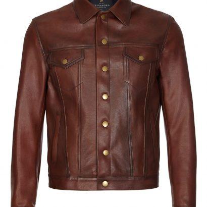 Light Brown Hudson Westran Jacket Western Jacket Free Shipping