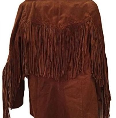 Eagle Beads Western Cowboy Suede Leather Jacket Western Jacket Free Shipping
