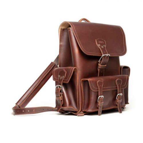 Latest Fashion Front Pocket Leather Backpack Bags Free Shipping