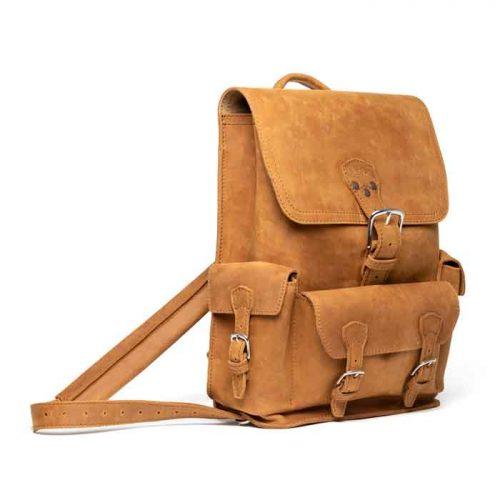 Thin Front Pocket Saddleback Leather Backpack Bags Free Shipping