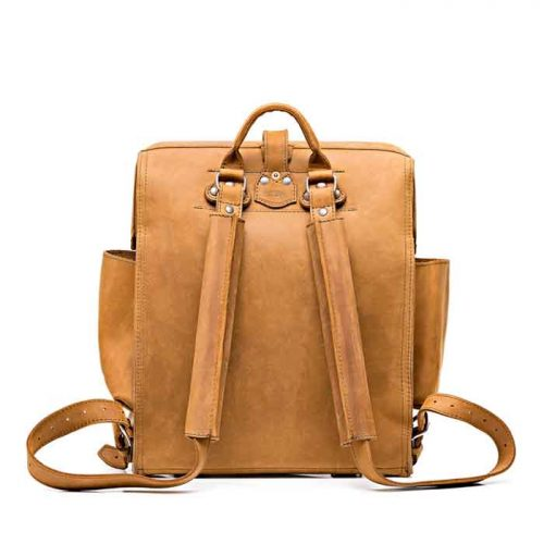 New Stylish Look Big Mouth Leather Backpack Bags Free Shipping