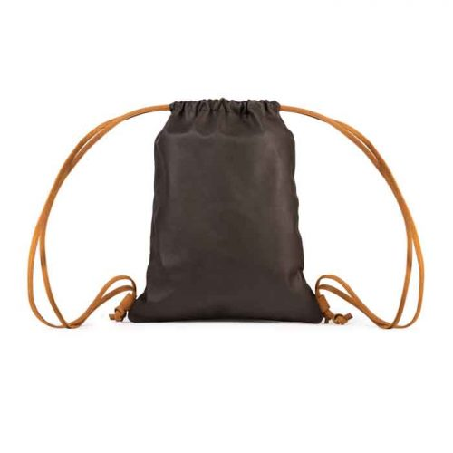 Brown Leather Drawstring Backpack For Women's Bags Free Shipping