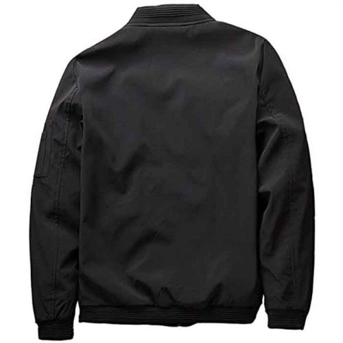 Men's Slim Fit Lightweight Sportswear Bomber leather jacket Fashion Collection Free Shipping