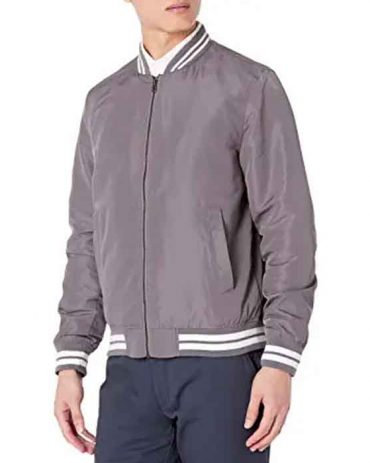 Men's Lightweight Bomber Leather Jacket Fashion Collection Free Shipping