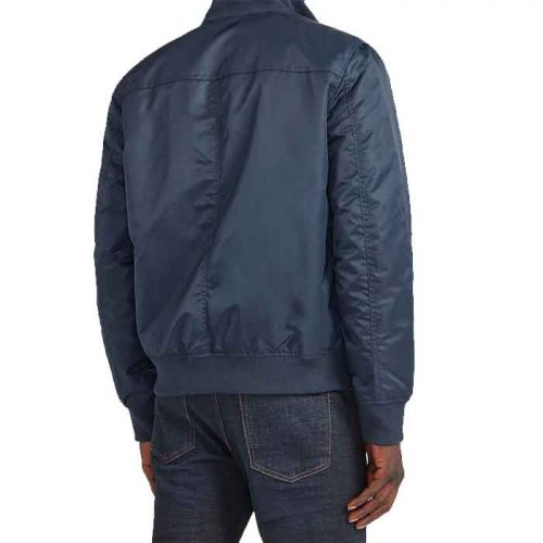 Men's Pocket Water-Resistant Nylon Bomber Jacket Fashion Collection Free Shipping