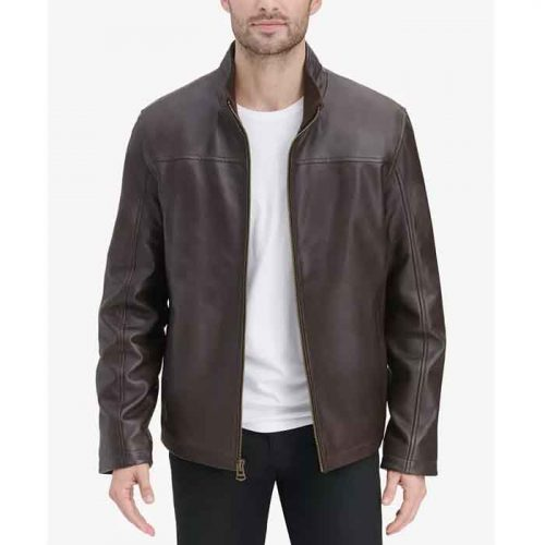 Created for Macy's Men's Smooth Leather Jacket Fashion Jackets Free Shipping