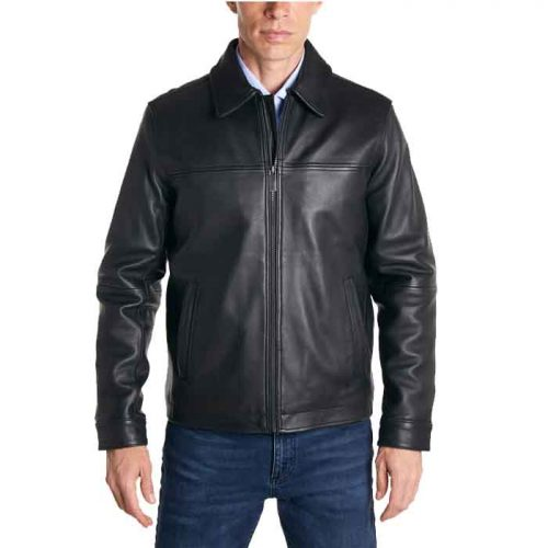 Men's Classic Styles look Leather Jacket Men's Fashion Jackets Free Shipping