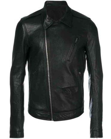 New Latest Shine Look zipped leather jacket For Men's Fashion Jackets Free Shipping