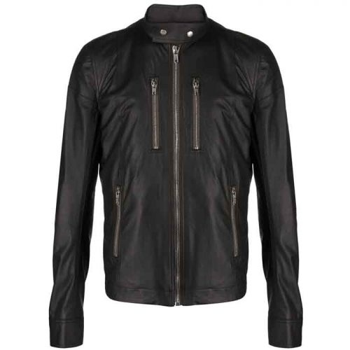 New Look Fashion zip-front leather jacket For Men's Fashion Jackets Free Shipping