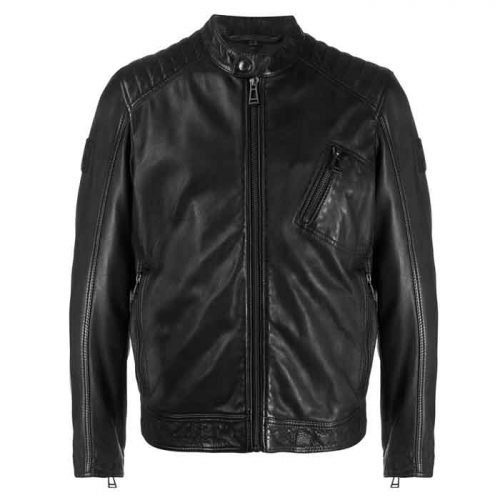 Styles Stitched Panel Leather Jacket For Men's Fashion Jackets Free Shipping