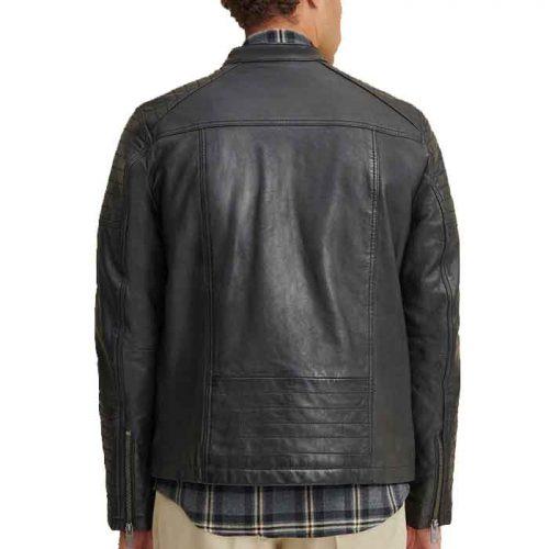 New Latest Moto Design Leather Jacket For Men's Fashion Jackets Free Shipping