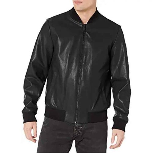 Men's Real Leather Bomber Jacket For Boy's Fashion Jackets Free Shipping