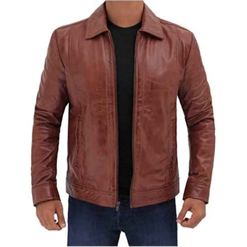 Brown Black Real Lambskin Mens Leather Jacket Fashion Jackets Free Shipping
