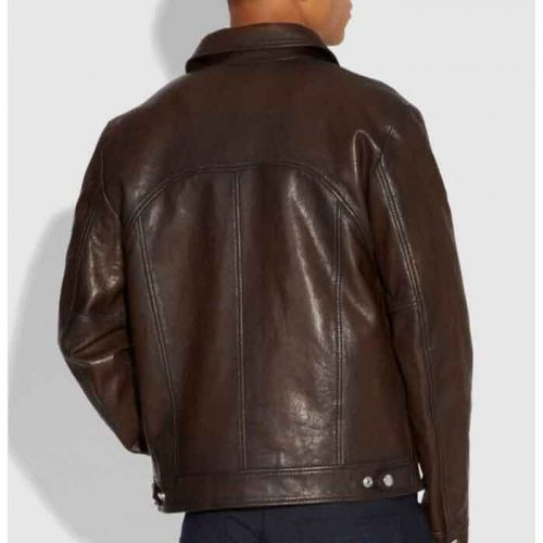Dark Brown Coach Stinger Fashion Leather Jacket Men's Fashion Jackets Free Shipping