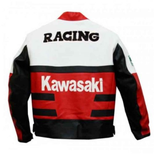 Kawasaki Red Motorcycle Biker Racing Leather Jacket Motorbike Collection Free Shipping