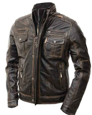 Ledersoul Present Premium Quality Men Race Fit Motorbike Leather Jacket Motorbike Collection Free Shipping