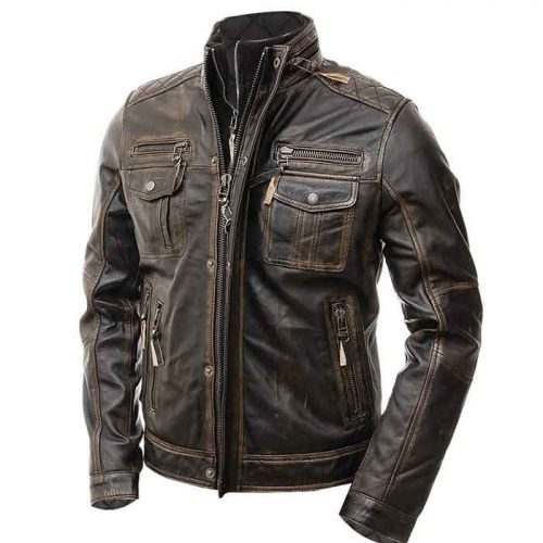 New Professional Motorbike Racing Leather Jacket Motorbike Collection Free Shipping