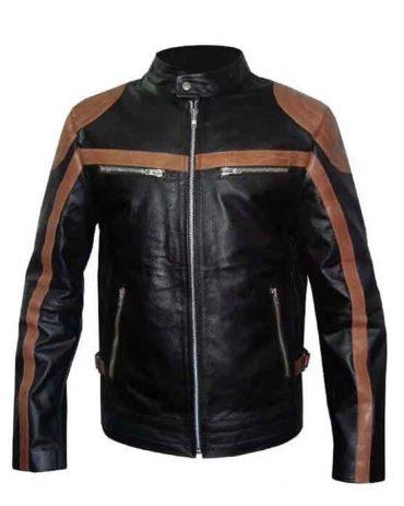 MEN'S FURYGAN WHITE BLACK MOTORBIKE RACING JACKET Motorbike Collection Free Shipping