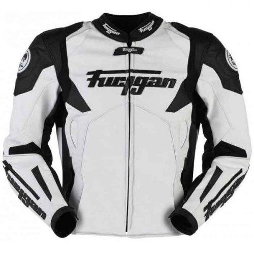 MEN'S FURYGAN SPYDER 2021 WHITE BLACK MOTORBIKE RACING JACKET Motorbike Collection Free Shipping