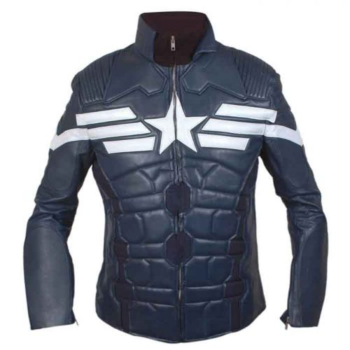 Captain America 2021 The Winter Soldier Motorbike Leather Jacket Motorbike Collection Free Shipping