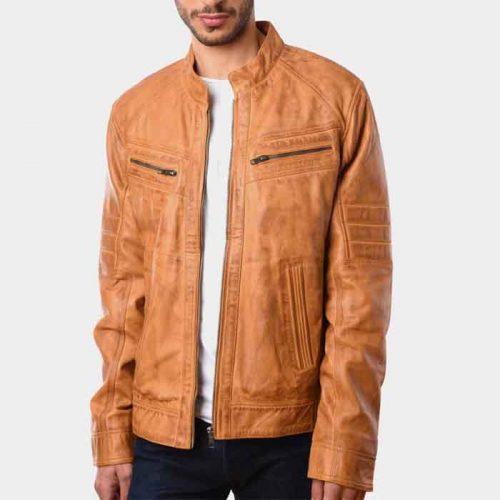 Mens Fashion Motorbike Leather Jacket Motorbike Collection Free Shipping