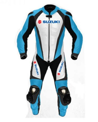 Men's Suzuki Motorcycle Racing Leather Motogp Suit Motorbike Collection Free Shipping