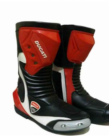 Brand New Motorcycle Cowhide Leather Shoes MotoGp Boots Free Shipping