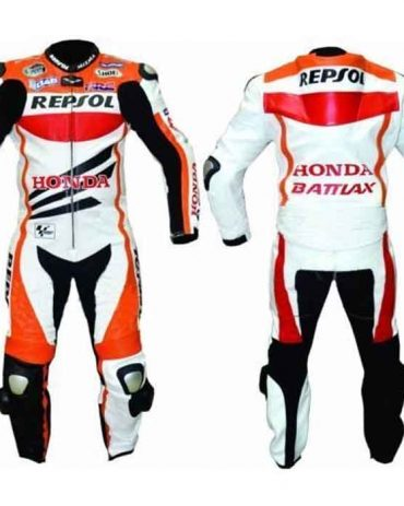 HONDA REPSOL SPORTS MOTORBIKE LEATHER SUIT Motorbike Suits Free Shipping