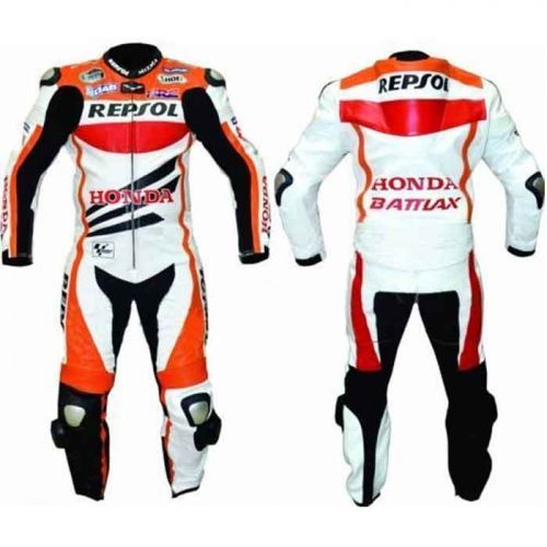 HONDA REPSOL SPORTS MOTORBIKE LEATHER SUIT Motorbike Collection Free Shipping