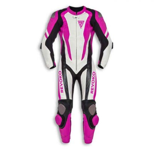 LADIES CE ARMOUR MOTORCYCLE LEATHER RACING SUIT MotoGp Collection Free Shipping