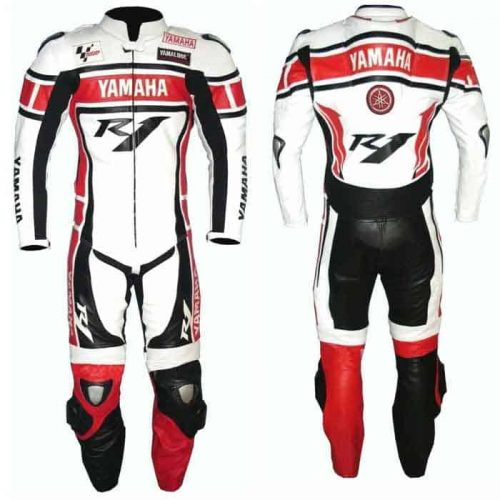 Yamaha R1 Motorbike Leather Riding Suit MotoGp Collection Free Shipping