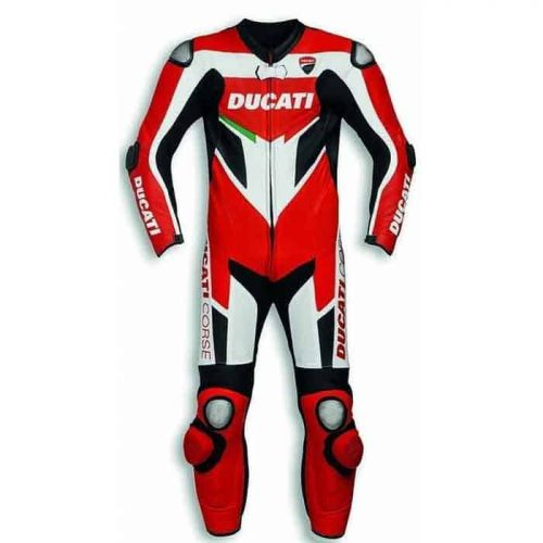 Custom Made Ducati Corse Motorcycle Racing Leather Suit MotoGp Collection Free Shipping