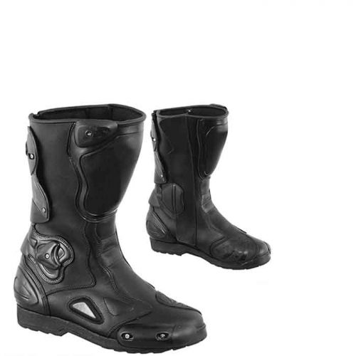 Motorbike Sports Leather Men Racing Shoes MotoGp Boots Free Shipping