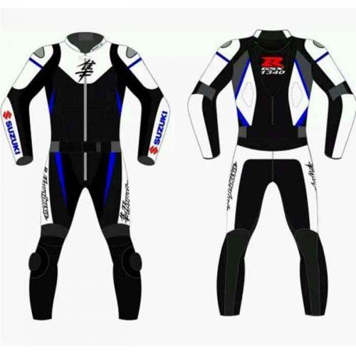 SUZUKI HAYABOSA 2017 MOTORCYCLE RACING LEATHER SUIT Motorbike Collection Free Shipping