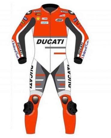 2021 ANDREA DOVIZIOSO MOTOGP DUCATI RACING LEATHER Motorbike Suits Free Shipping