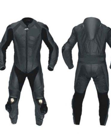 Full Black MotoGP Motorbike Leather Suit MotoGp Collection Free Shipping