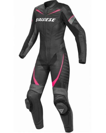 LADIES MOTORBIKE COWHIDE LEATHER SUIT MotoGp Collection Free Shipping