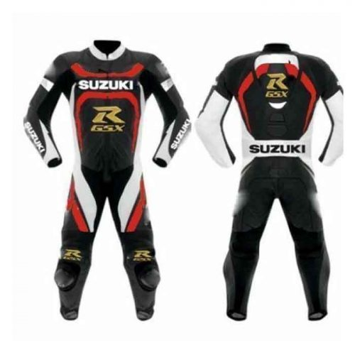 New Suzuki Sports Racing Motorcycle Leather Suit MotoGp Collection Free Shipping